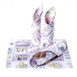 Prostírky patchwork Levandule fialové 4 ks