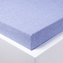 Napínací froté prostěradlo Melír světle modré 90 - 100 x 200 cm