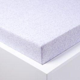 Hermann Cotton Napínací froté prostěradlo Melír bílofialové 180 x 200 cm