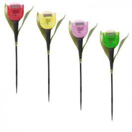 Solární LED lampy ve tvaru tulipánu 4 ks