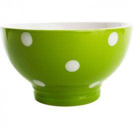 BANQUET Miska zelená s puntíky Z kvalitní keramiky v moderní zelené barvě Zelená keramická miska s puntíky značky BANQUET jevyrobena z kvalitní keramiky. Můžete ji používat v myčce na nádobí i v mikrovlnné troubě. Parametry: Materiál: keramika Průměr horního okraje: 13 cm Průměr dolního okraje: 6,5 cm Výška: 7,2 cm Vhodné do mikrovlnné trouby: ano Vhodné do myčky nádobí: ano   BANQUET Kompletní sortiment do Vaší kuchyněPod značkou domácích potřeb BANQUET najdete kompletní sortiment pro přípravu jídel a nápojů, stolování, skladování surovin i hotových jídel. Za více než 5 let působení na českém trhu si značka získala řadu spokojených zákazníků.