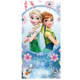 Jerry Fabrics Ledové království Osuška Frozen blue sisters 70x140 cm