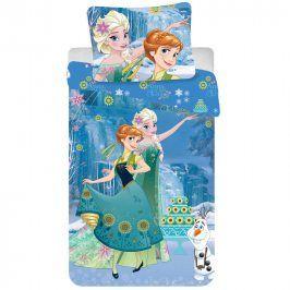 JERRY FABRICS Dětské ložní povlečení Frozen Cake 140 x 200 cm, 70 x 90 cm