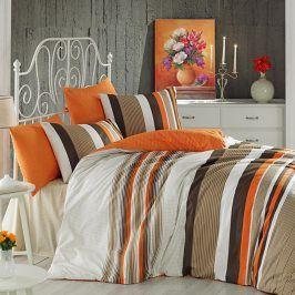 Bavlněné  povlečení Touch oranžové 140 x 200 cm, 70 x 90 cm