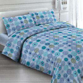 Bavlněné  povlečení Soffione modré 140 x 200 cm, 70 x 90 cm