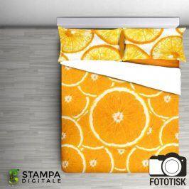 Bavlněné  povlečení Arance oranžové 140 x 200 cm, 70 x 90 cm