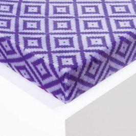 Hermann Cotton Napínací prostěradlo Sebastien mikroplyš fialové 180 x 200 cm