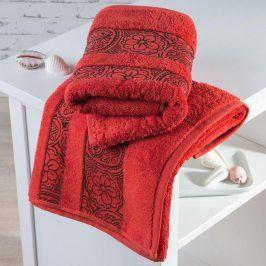 Froté ručníky Madrid terakotové sada 2 kusů 50 x 100 cm