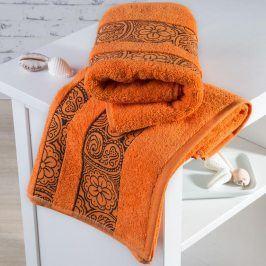 Froté ručníky Madrid oranžové sada 4 kusů 50 x 100 cm