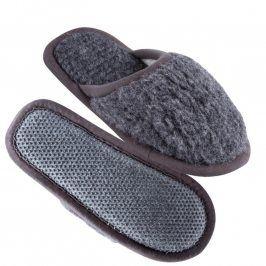 Domácí pantofle s protiskluzovou podrážkou šedé 36/37