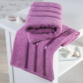 Froté ručníky Bilbao růžové sada 2 kusů 50 x 100 cm