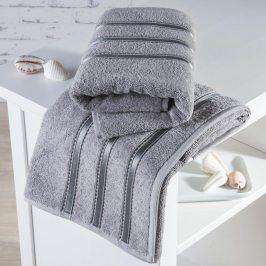 Froté ručníky Bilbao šedé sada 4 kusů 50 x 100 cm