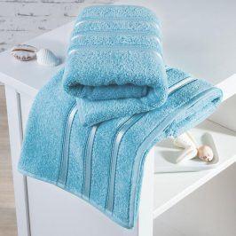 Froté ručníky Bilbao azurové sada 4 kusů 50 x 100 cm