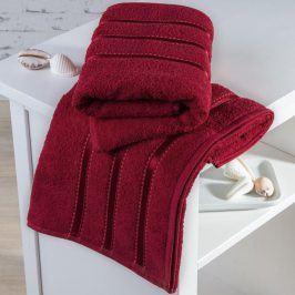 Froté ručníky Bilbao červené sada 2 kusů 50 x 100 cm