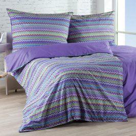 Gipetex Natural Dream povlečení bavlna Baia fialová 140x200 70x90