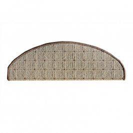 Vopi Koberec na schody půlkruh Udinese béžový 24 x 65 cm