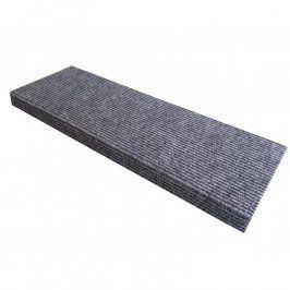 Vopi Koberec na schody obdélník Quickstep šedý 24 x 65 cm