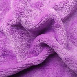 Hermann Cotton Napínací prostěradlo SLEEPWELL mikroplyš lila 90 - 100 x 200 cm
