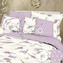 Bavlněné  povlečení Lavender lila 2 ks 2x 140 x 220 cm, 70 x 90 cm