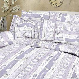 Bavlněné  povlečení Lavena fialové 2 ks 2x 140 x 200 cm, 70 x 90 cm