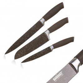 BANQUET Nože s nepřilnavým povrchem PREMIUM Dark Brown 3 ks