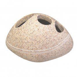 Kelímek na kartáčky Stone béžový
