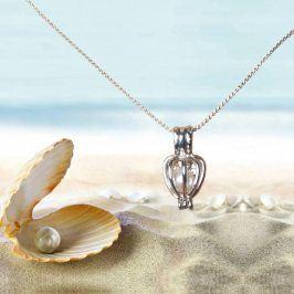 Dámský řetízek s přívěškem s pravou perlou