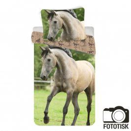 Dětské ložní povlečení hnědý kůň 140 x 200 cm, 70 x 90 cm