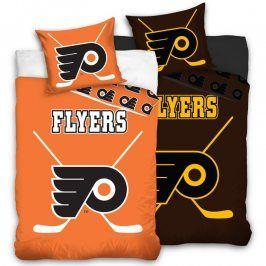 Bavlněné  povlečení NHL Philadelphia Flyers 140 x 200 cm, 70 x 90 cm