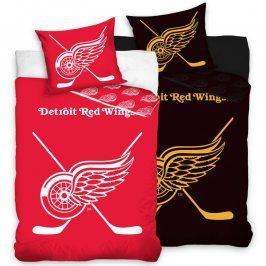 Bavlněné  povlečení NHL Detroit Red Wings 140 x 200 cm, 70 x 90 cm