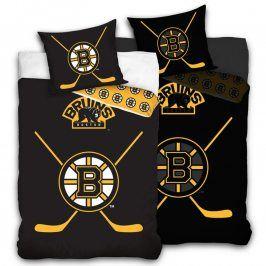 Bavlněné povlečení NHL Boston Bruins 140 x 200 cm, 70 x 90 cm