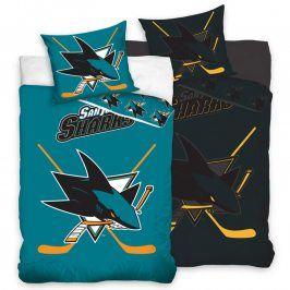 Bavlněné  povlečení NHL San Jose Sharks 140 x 200 cm, 70 x 90 cm