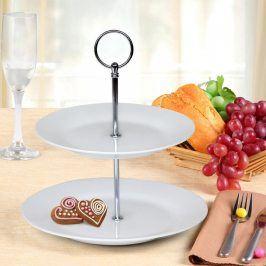 Banquet Stojan na cukroví porcelánový SOFIA 2patrový