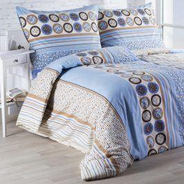 Flanelové  povlečení Luisa modré 140 x 200 cm, 70 x 90 cm