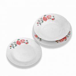 Florentyna Sada porcelánových talířů Peonia Rose 18 kusů