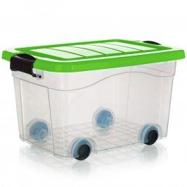 BRILANZ Box úložný pod postel na kolečkách PYRAMIDA 40 l, zelený