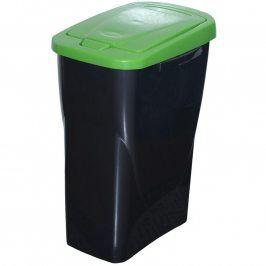 Koš na tříděný odpad zelené víko 50x15x30 cm 25 l plast