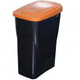 Koš na tříděný odpad oranžové víko 50x15x30 cm 25 l plast