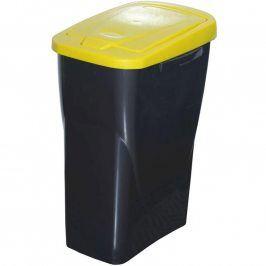 Koš na tříděný odpad žluté víko 50x15x30 cm 25 l plast