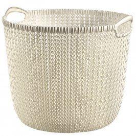 CURVER KNIT L kulatý koš na prádlo 30L krémový 03673-X54