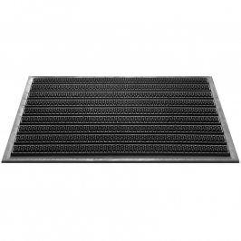 Černá gumová venkovní rohož Compact - délka 60 cm a šířka 40 cm