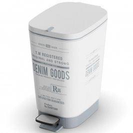 Plastový odpadkový koš do koupelny CHIC Denim S
