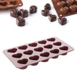 BANQUET Silikonová forma na čokoládu Srdíčka