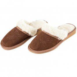 Dámské pantofle s ovčí vlnou 39
