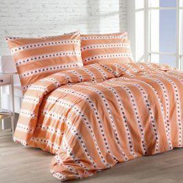 Bavlněná ložní souprava Barunka oranžová prodloužená délka