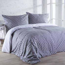 Stanex povlečení bavlna Puntík šedý LS146 - 140x200 70x90