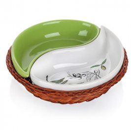 BANQUET Keramická servírovací miska 2dílná Olives pr. 20 x 4 cm   Kompletní sortiment do Vaší kuchyněPod značkou domácích potřeb najdete kompletní sortiment pro přípravu jídel a nápojů, stolování, skladování surovin i hotových jídel. Za více než 5 let působení na českém trhu si značka získala řadu spokojených zákazníků.