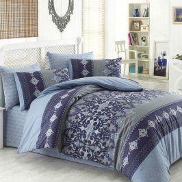 Tip Trade Bavlněné  povlečení LAUREN modré 200 x 220 cm, 2x 70 x 90 cm