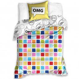 Tip Trade Bavlněné  povlečení OMG, Oh my God 140 x 200 cm, 70 x 90 cm
