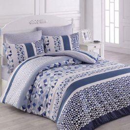 Bavlněné  povlečení Laviva modrá 140 x 200 cm, 70 x 90 cm